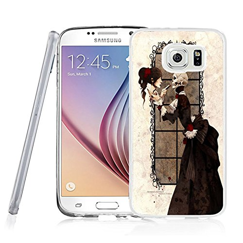 Price comparison product image Galaxy S7 Case Samsung Galaxy S7 Case Viwell TPU Soft Case Rubber Silicone Skull makeup beauty