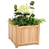 Patio Lawn Garden Planter Box Raised Vegetable Flower Square Wood Classic Style