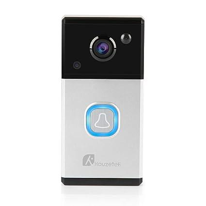 Timbre de vídeo WiFi, cámara de timbre inalámbrico 720P HD con extensor WiFi de dos