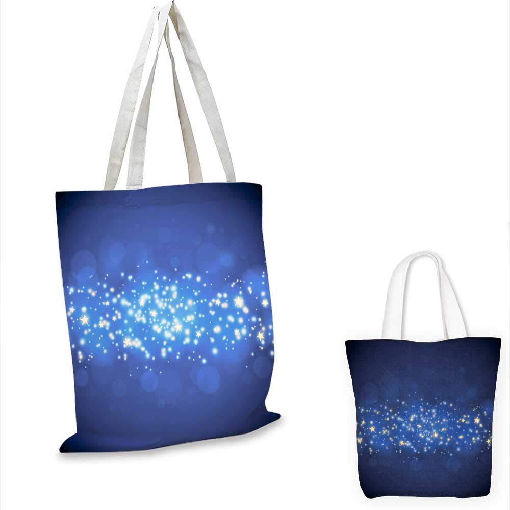 Christmas glittering stars canvas messenger bag canvas beach bag 12x15-10inch