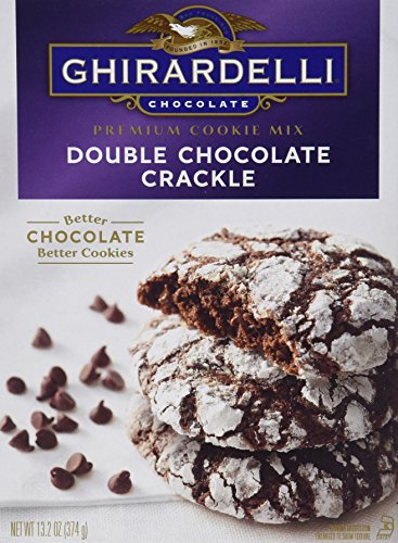 Ghirardelli Premium Cookie Mix, Double Chocolate Crackle, 13.205-Ounce (Pack of 12)