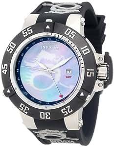 Invicta Men's 0876 Subaqua Noma III Blue Mother-Of-Pearl Dragon Dial Black Polyurethane Watch