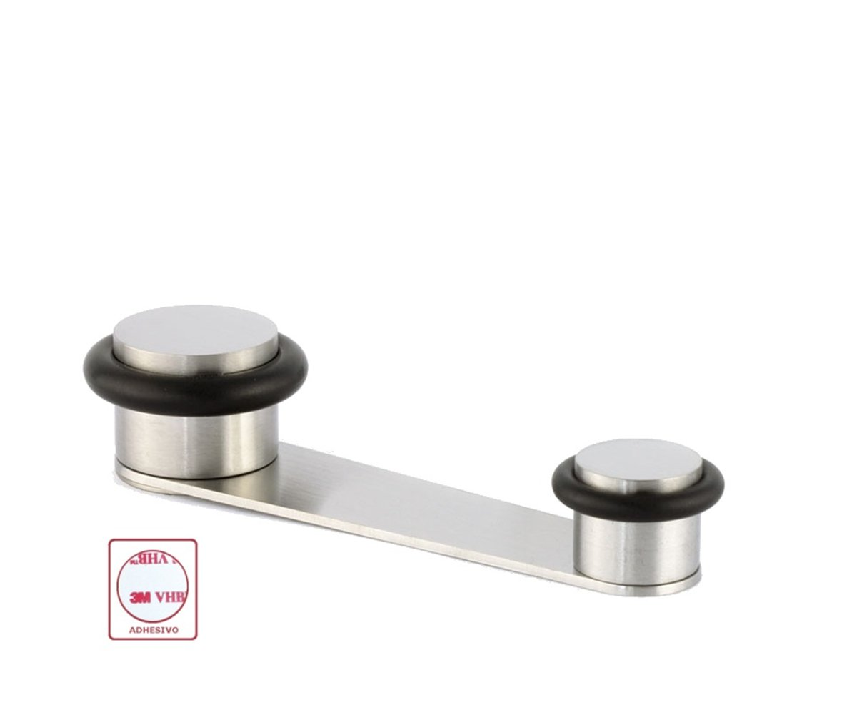 Evi Fittings I-164-ad Door Stop with Retainer Rotary,Wedge Stooper,Stainless Steel, Adhesive or Screw Fix.