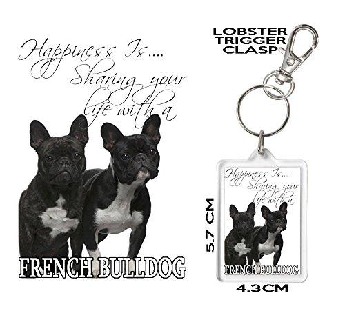 Francés Bulldog Llavero, felicidad es..... asequible ...