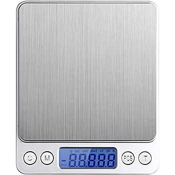 Etekcity 500g Digital Multifunction Pocket Kitchen Food Scale, Stainless Steel, 0.001oz (0.01g) Resolution