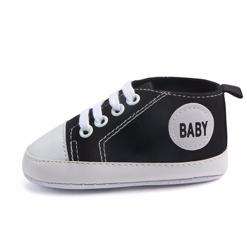 DZT1968  Newborn Infant Baby Boys Girls Solid Canvas First Walkers Sneakers