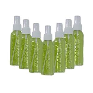 JADEWELL 7 Pack Plastic Mist Spray Bottles 3oz 100ML Mini Reusable Travel Bottle for Essential Oils Perfume Cosmetic Disinfectant