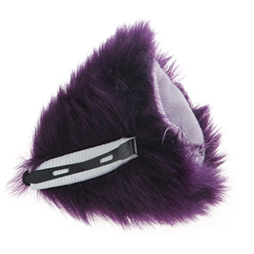 Orecchiette Party's Fur Ears Anime Neko Costume Hair Clip Cosplay Accessories (White&White) by MEXUD Cat Fox Fur Ears (Image #5)