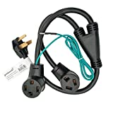 Parkworld 886597 Splitter, NEMA 10-30 Male Plug to 14-30 & 10-30 Female Receptacle, Dryer 30 AMP 3-Prong Y Adapter Cord