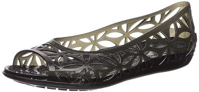 37c9ff6b8 Amazon.com  Crocs Women s Isabella Jelly II Flat  Shoes