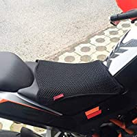 3D Mesh Net Seat Cushion Anti-Skid Moped Seat Buffer Protection Cover for Motorcycle Gorge-buy 3D Mesh Motorcycle Seat Cushion Breathable Motorcycle Seat Cover Black