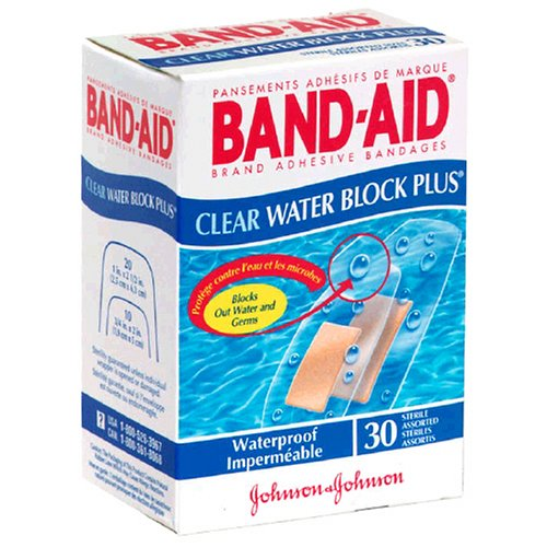 Band-Aid Water Block Plus Adhesive Bandages-Clear-30ct, Assorted Sizes