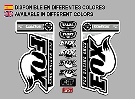 Pegatinas Fox Fork Evolution FDP20 Stickers AUFKLEBER Decals AUTOCOLLANTS ADESIVI
