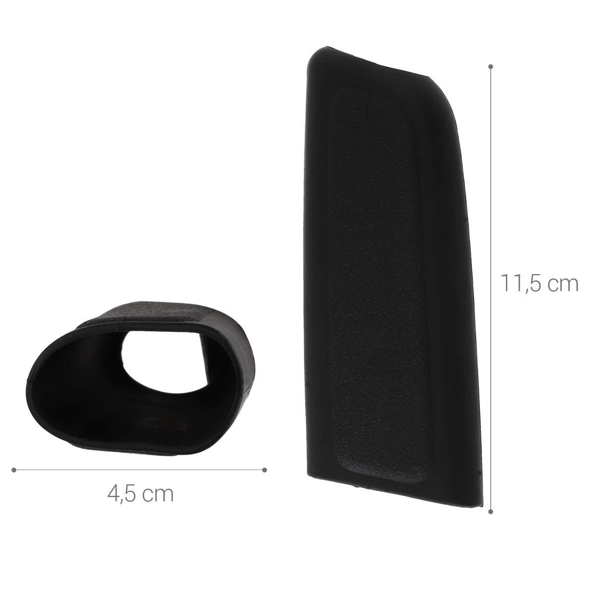 Housse de protection en silicone noir Coque frein /à main voiture universelle 11,5 x 4,5 cm kwmobile Coque frein /à main
