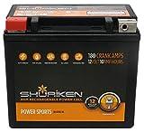 Shuriken SK-BTX12-BS 180CCA 12V Powersports High Performance AGM Battery