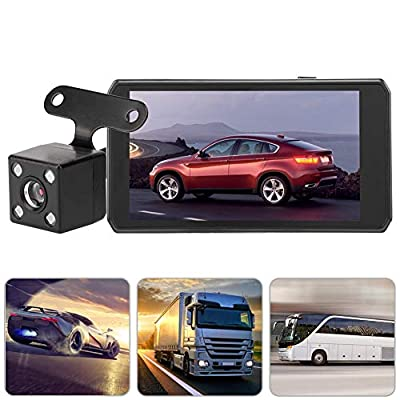 Tangxi 4.5 inches HD Car Driving Recorder, HD 1080P Cam 170 Degrees Rotatable Vehicle Camera Video Recorder, Car Loop Recording Touch Screen GPS with Dual Lens LED Night View Car DVR Video Recorder