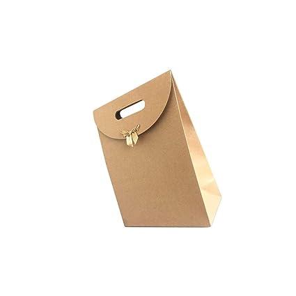 LEEQ 15 Bolsas de Regalo de Color Caramelo con Asas, Lazo ...