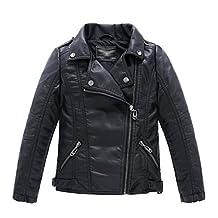 LJYH Childrens Faux leather Leather Bomber Jacket Kids Boys Coat