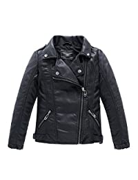 LJYH Childrens Faux leather Leather Bomber Jacket Kids Boys Coat