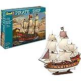Revell Modellbausatz Schiff 1:72 - Piratenschiff im Maßstab 1:72, Level 5, originalgetreue Nachbildung mit vielen Details, Segelschiff, 05605
