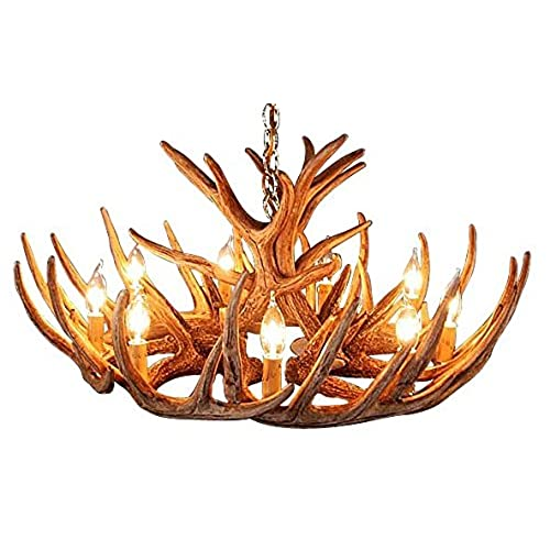 Antlers chandelier amazon antler chandelier 12 antler cascade with 9 lights by muskoka lifestyle products no assembly required made in the usa 33 diameter x 15 tall aloadofball Gallery