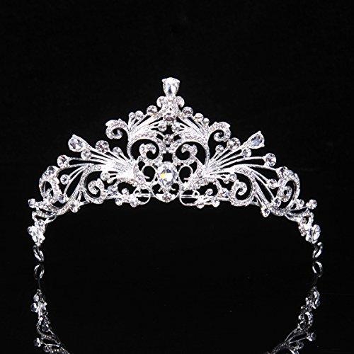 Topwedding Rhinestone Flower Blossom Inspired Wedding Tiara Headband Bridal Tiara Crown Prom Pageant Headpieces (Blossom Crown)