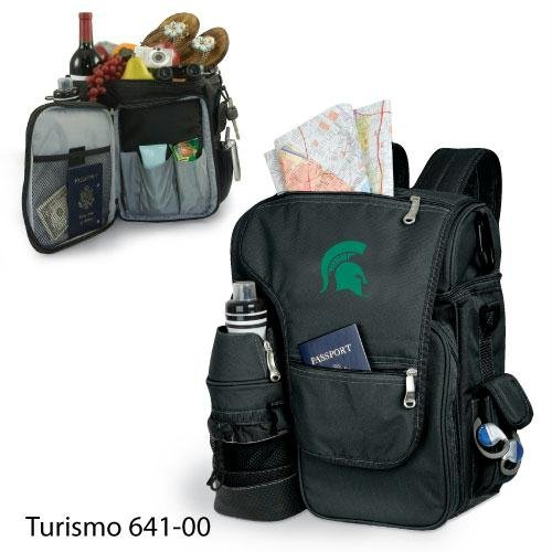State Picnic Backpack Michigan (NCAA Michigan State Spartans Embroidered Turismo, One Size, Black)