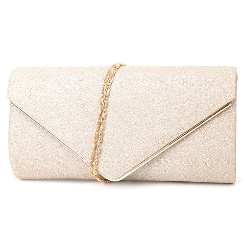 Clutch Party Fashion Evening Gold Handbag Gold Bridal Ladies Women JAGENIE Purse Shoulder Bag txzZn