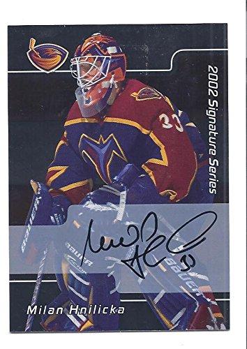 MILAN HNILICKA 2001-02 Be A Player BAP Signature Series #88 AUTOGRAPH Card Atlanta Thrashers Hockey