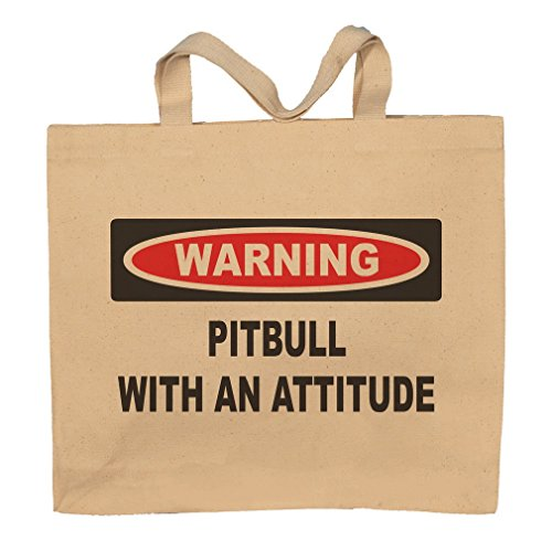 Pitbull With An Attitude Totebag Bag by T-ShirtFrenzy