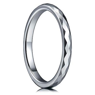 Amazon Com Three Keys Jewelry 2mm Womens Tungsten Wedding Ring