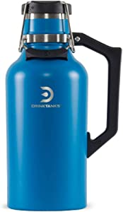 NEW DrinkTanks 64 oz Vacuum Insulated Stainless Steel Beer Growler