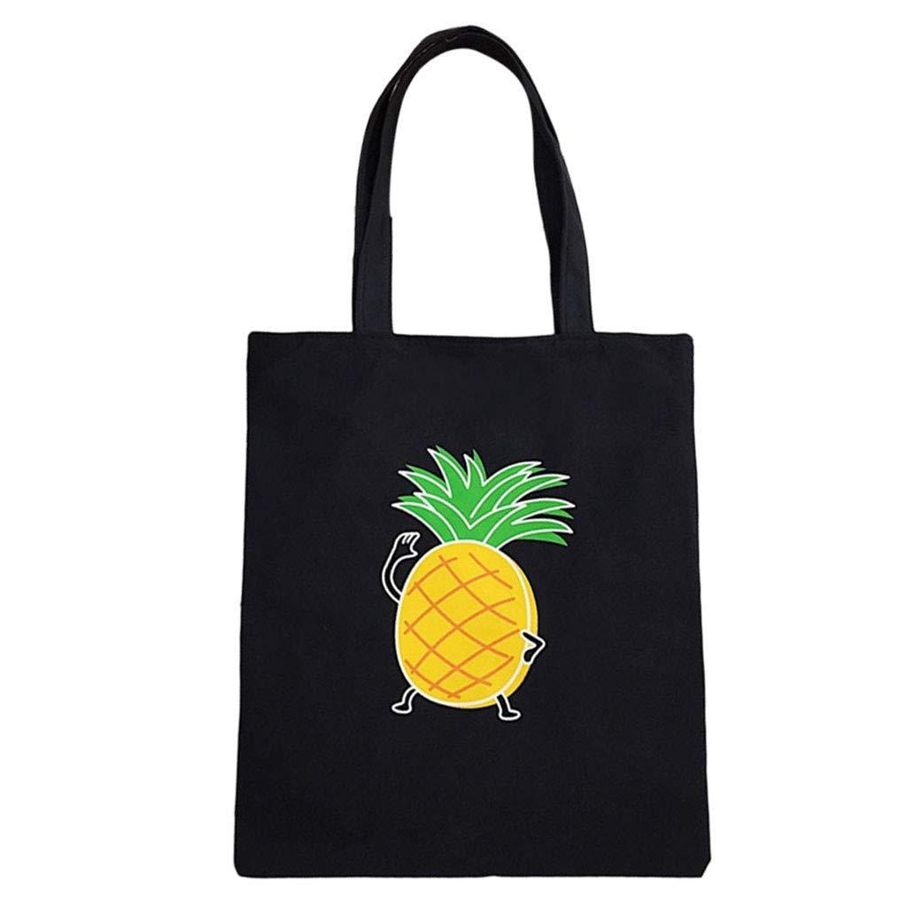 NRUTUP Women Canvas Handbag Printed Shoulder bag Capacity Beach Tote Shopping Handbags(33X1X38cm,C)