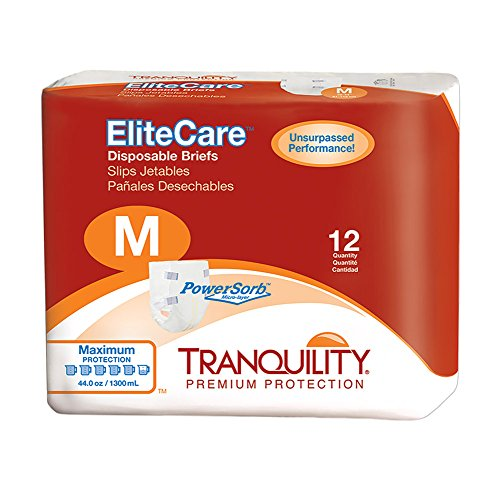 Tranquility EliteCare® Maximum Absorbency Tape-Tab Style Brief - MD - 48 ct