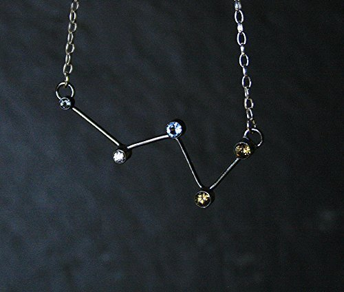 amazon tone pendant com aquarius gold silver brass dp or constellation zodiac necklace