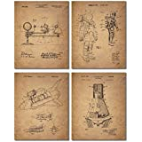 Space Patent Prints - Set of Four Vintage Wall Art Photos