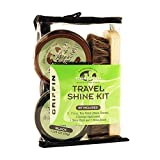 Griffin Travel Shine Kit - Shine Cloth, Shine Brush, Shoe Polish (Black & Brown) & Applicators – Made in the USA