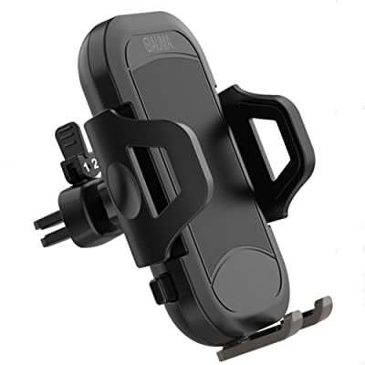 GIAUMA Car Phone Mount Air Vent Cell Phone Holder Cradle with Anti-Scratch Clip Universal Compatible with iPhone Samsung Galaxy Nexus Nokia and Any Smartphone Under 7 inch [5Bkhe0400788]