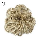 Gaddrt Women's Hair Piece Curly Messy Bun Hair Twirl Piece Scrunchie Wigs Extensions Hairdressing (O)
