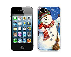 2014 Newest Christmas snowman White iPhone 4 4S Case 12