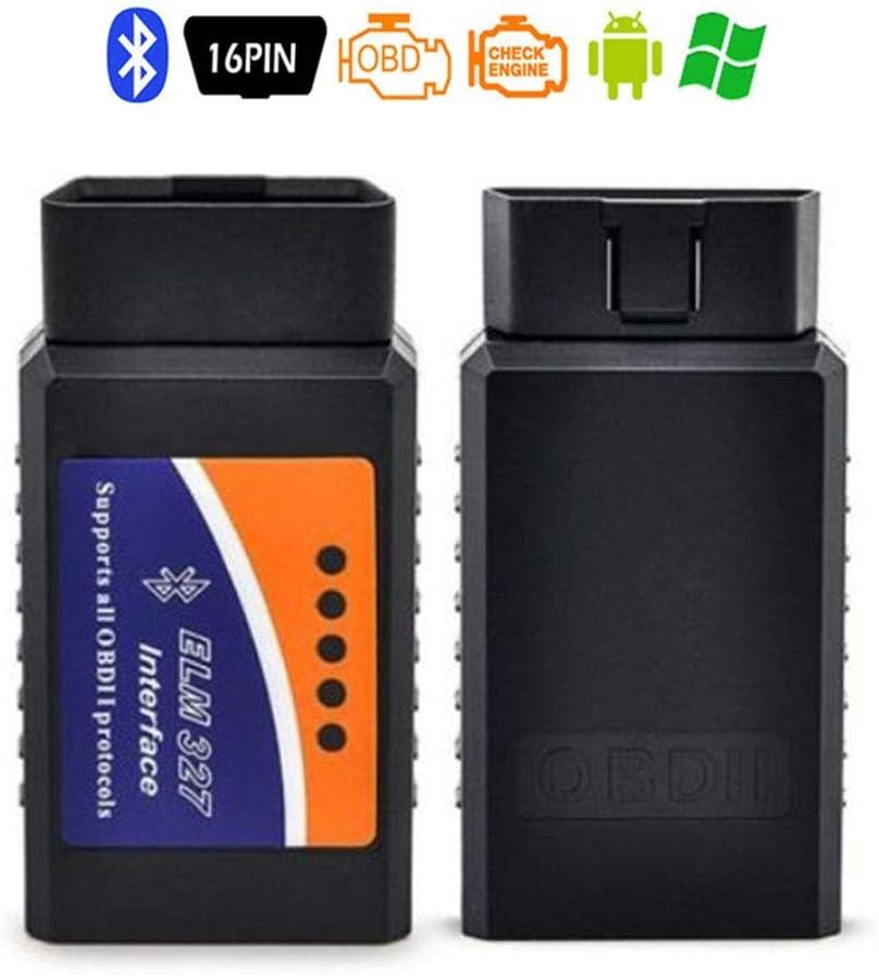 ELM327 OBD2 Bluetooth OBDII Lettore codice Auto Scanner ELM27 Bluetooth Strumento di scansione diagnostica Automatica OBDII Adattatore guasto Motore per Android Windows