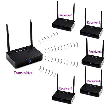 measy hd585  : measy HD585 Wireless HDMI Extender Kit, TV Transmitter ...