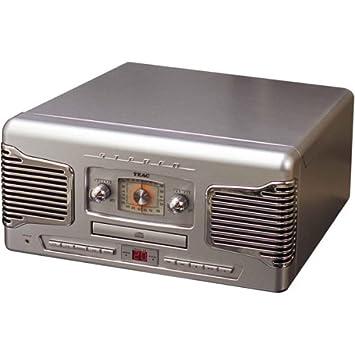 Amazon.com: TEAC sl-a200s 50s-style CD/Turntable sistema ...