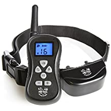Dog Training Collar with Remote - Bark Control – 16 Levels of Shock, Vibration and Beep, IPX5 Water Resistant, Up to 300 Yards with Adjustable Collar for Small, Large Breeds - Arf Pets