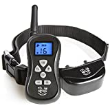 Dog Training Collar with Remote – Bark Control – 16 Levels of Shock, Vibration and Beep, IPX5 Water Resistant, Up to 300 Yards with Adjustable Collar for Small, Large Breeds – Arf Pets For Sale