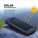 Solar Charger, Mr. mAh 12000mAh Portable External
