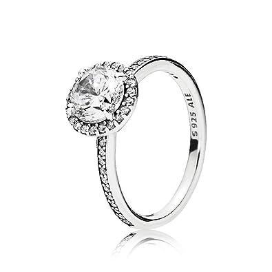 3424bba43 Amazon.com: PANDORA Classic Elegance Ring, Clear CZ 196250CZ-54 EU 7 ...