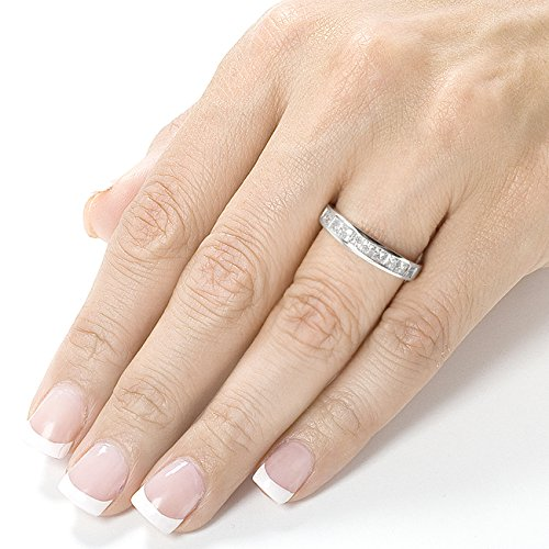 Diamond Band 1 carat (ctw) in 14kt White Gold, Size 8, White Gold by Kobelli (Image #4)