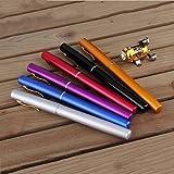 Qulable Mini Portable Aluminum Alloy Pocket Pen Shape Fish Fishing Rod Pole With Reel
