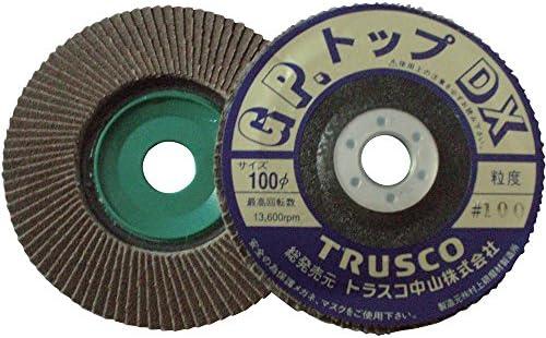 TRUSCO(トラスコ) GPトップDX アランダム Φ100 2層構造 (5枚入) 40# GP100DX-40